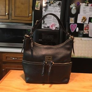 D&B Kelsey Double Zipper Black Hobo LIKE NEW